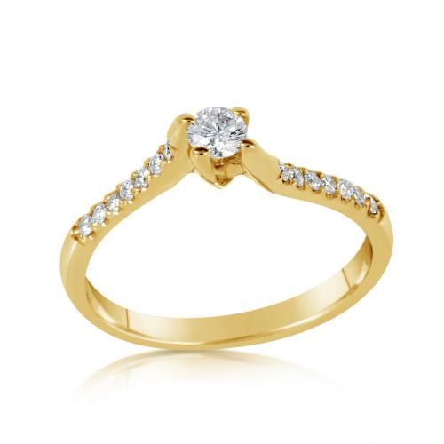 טבעת יהלומים סוויט צהוב