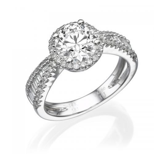 טבעת יהלום פירנצה -1.01 קרט
