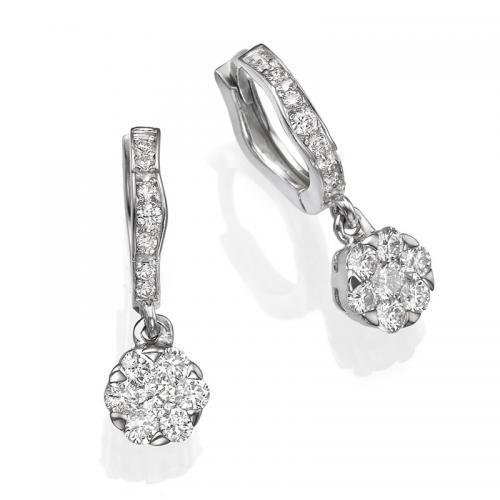 עגילים יהלומים כיסופים