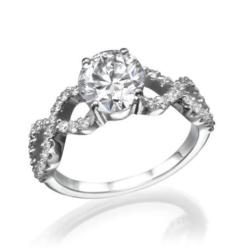 טבעת יהלום אירוסין -שמינית