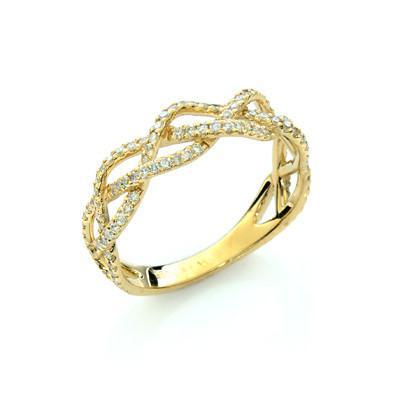 טבעת יהלום איקס