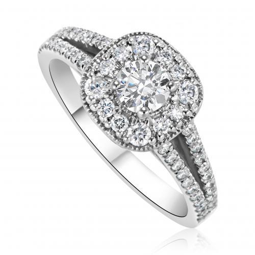 טבעת יהלום אירוסין A005