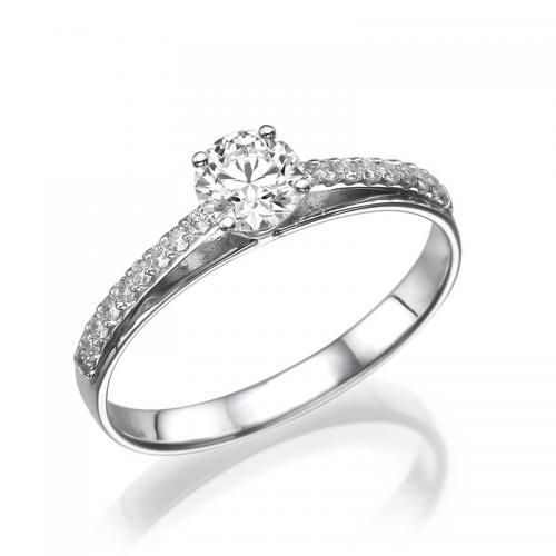 טבעת יהלום אירוסין - ורד