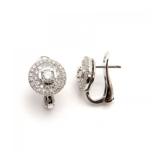 עגילי יהלומים פריז