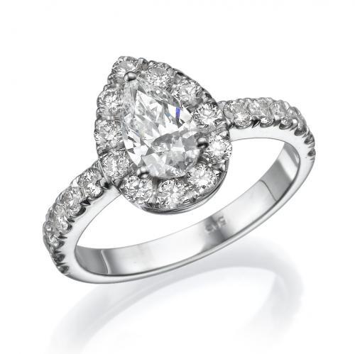 טבעת יהלום -טיפה