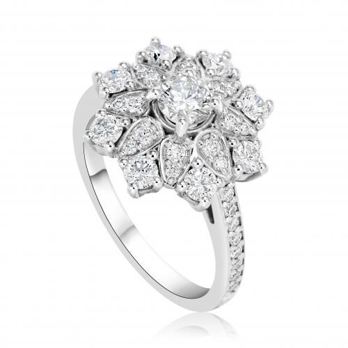 טבעת יהלום אירוסין A011