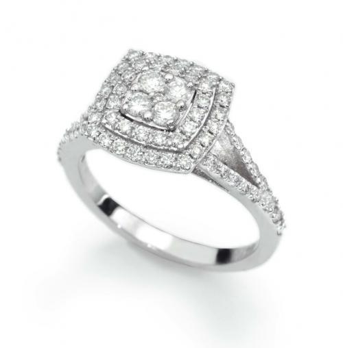 טבעת יהלום קושון בשיבוץ עיוור