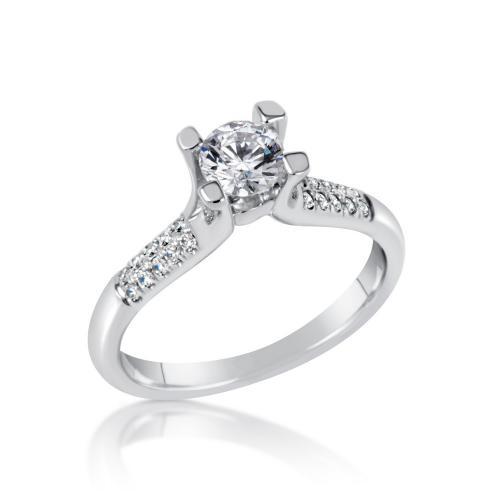 טבעת יהלום קלאסי
