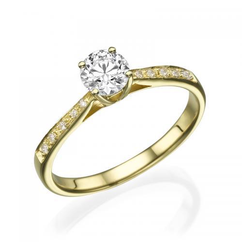 טבעת יהלום אירוסין- תבור