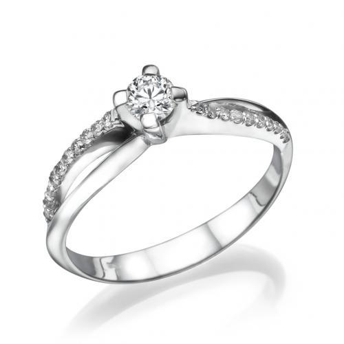 טבעת יהלום אירוסין - פרח  השלווה