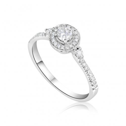 טבעת יהלום כתר מעוצב