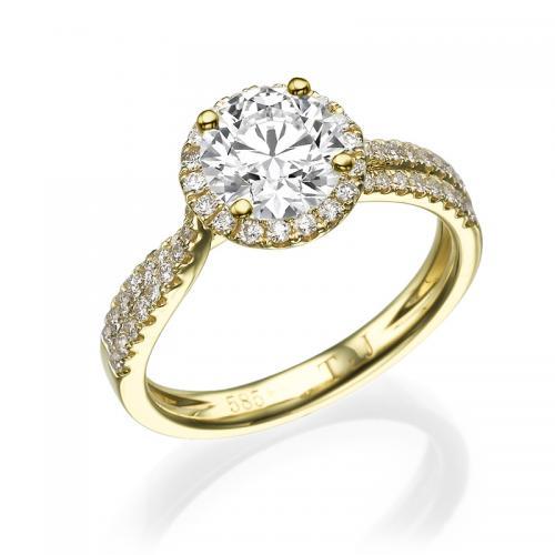 טבעת יהלום נאפולי - 1.01 קרט