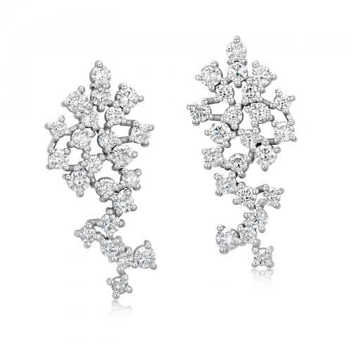 עגילי יהלומים ED011