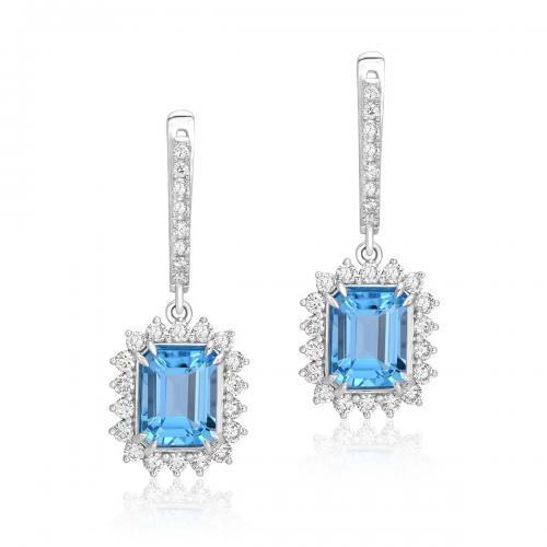 עגילי יהלומים ED026