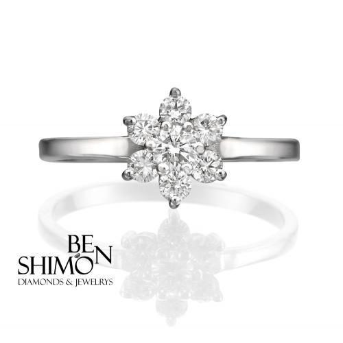 טבעת יהלומים מעוצבת RDR004