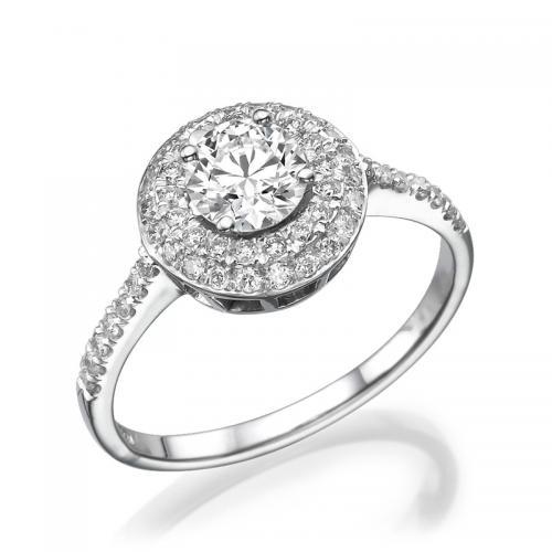 טבעת יהלום אירוסין -מודנה