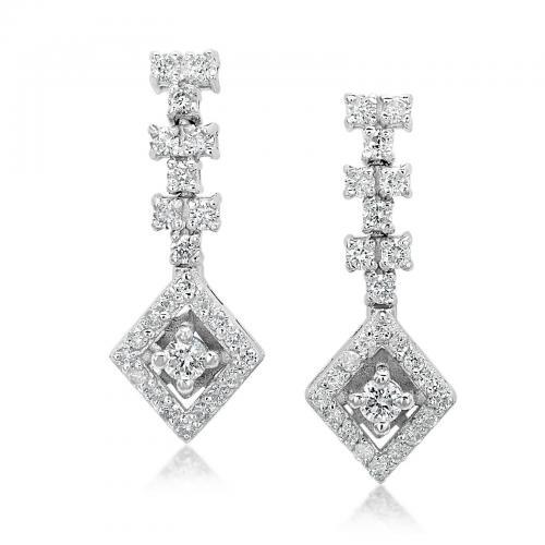 עגילי יהלומים ED015