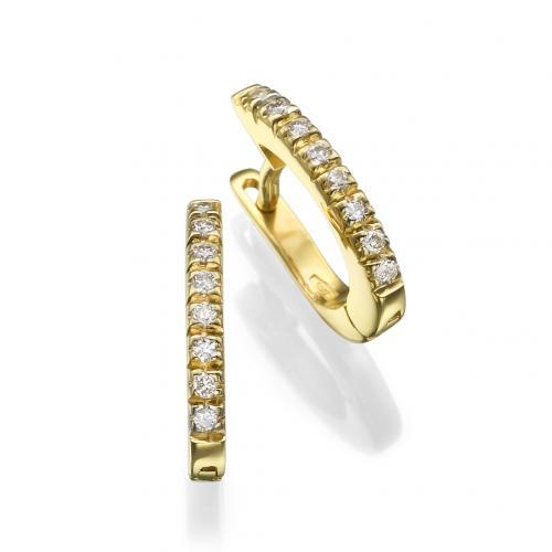 עגיל יהלומים-חישוק