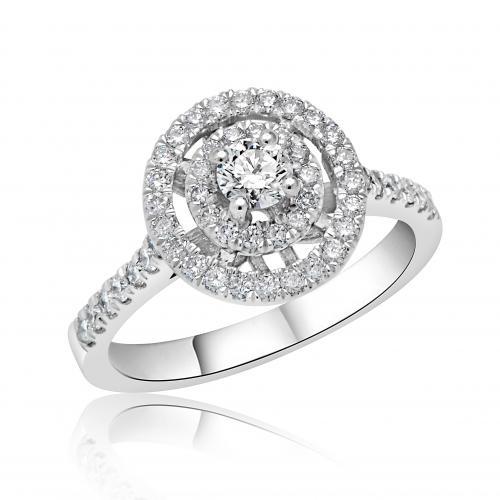 טבעת יהלום קלאסי A001