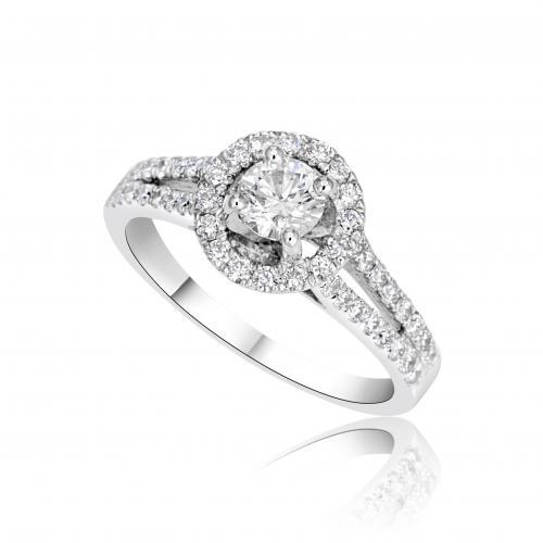 טבעת אירוסין מעוצבת A004