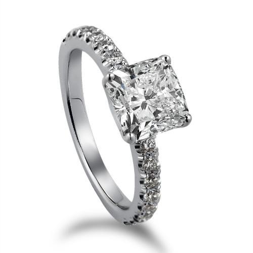 טבעת יהלום יהלום מרובע