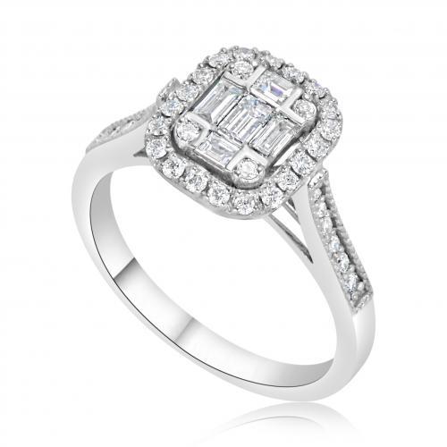 טבעת יהלום אירוסין A009