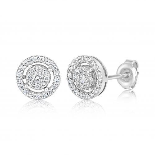 עגילי יהלומים ed001