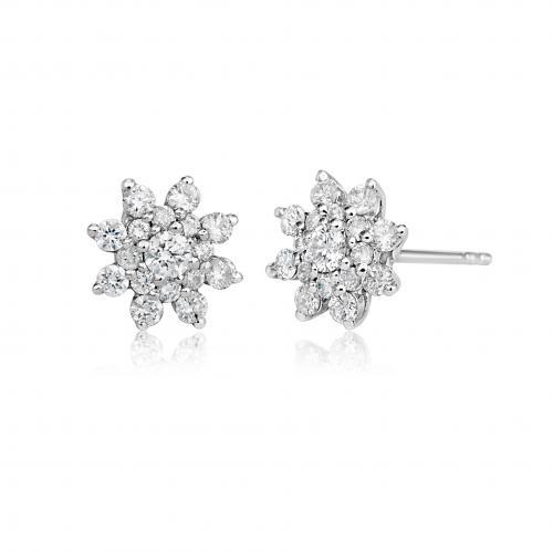 עגילי יהלומים ED022