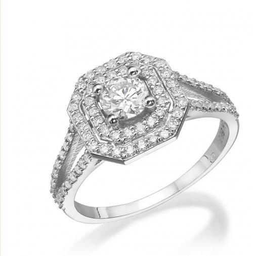 טבעת יהלום אירוסין A019