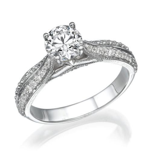 טבעת יהלום מעוצבת