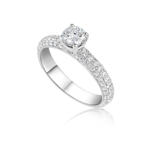 טבעת יהלום כתר