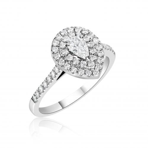 טבעת יהלום אירוסין A028