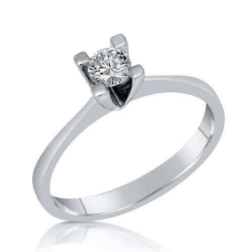 טבעת יהלום סוליטר קלאסי