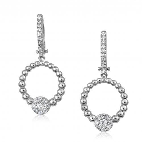 עגילי יהלומים חישוקים
