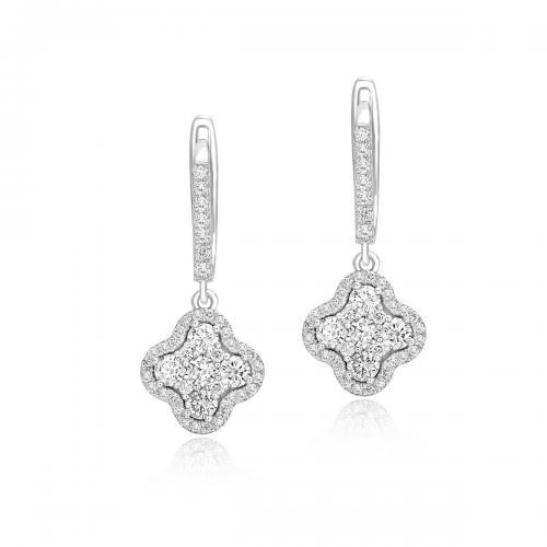 עגילי יהלומים ED024