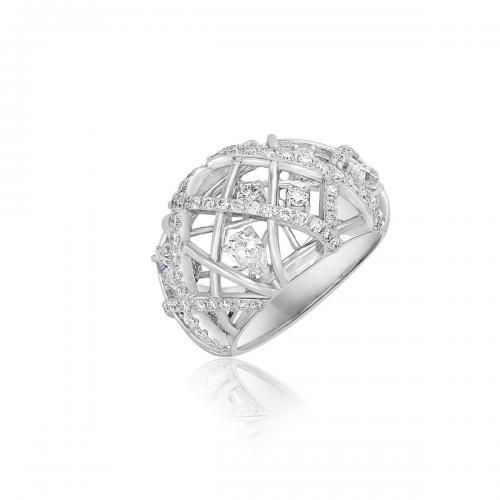 טבעת יהלומים מעוצבת RDR025