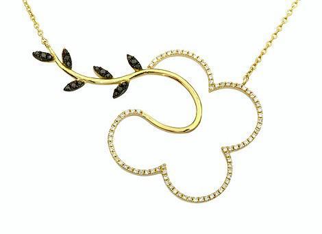 תליון יהלומים בצורת פרח