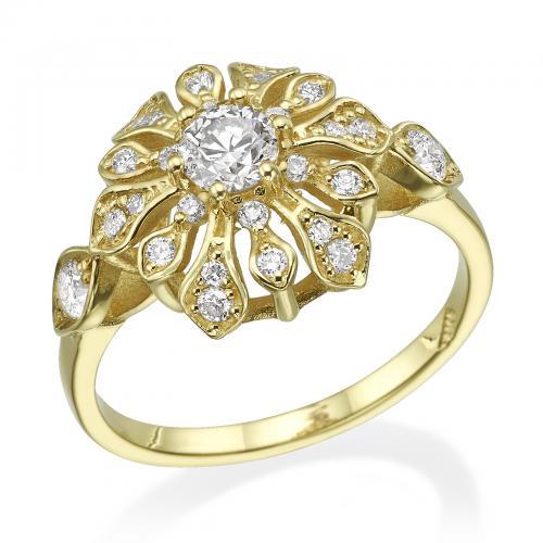 טבעת יהלום אירוסין A030
