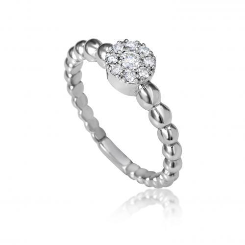 טבעת יהלומים חישוק