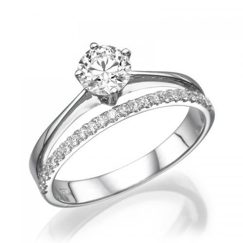 טבעת יהלום אירוסין - כתר מלכות